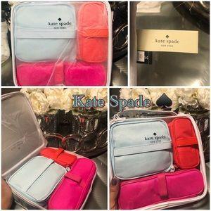❄️Kate Spade ♠️ Cosmetic Bag 4 Piece Travel Set❄️